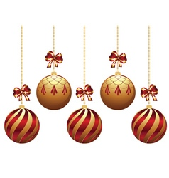 Decorative xmas balls10 vector