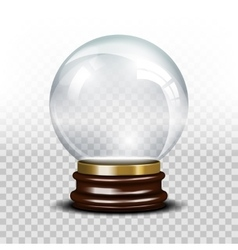 Glass empty snow globe vector