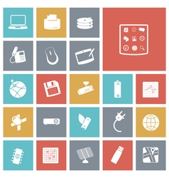 Icons tile technology device vector