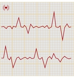 Set of various cardiogram design elements vector