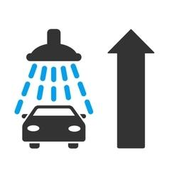 Car Shower Ahead Direction Flat vector image