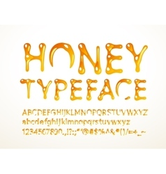 Honey typeface vector