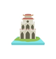 Buddhist temple pagoda icon cartoon style vector