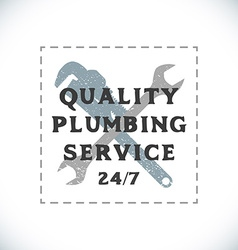 Color plumbing service sign template vector