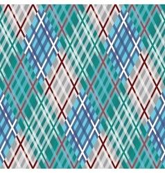 Seamless tartan pattern diagonal blue palette vector