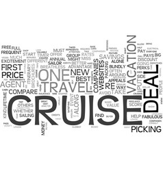 A fabulous cruise deal how to find one text word vector