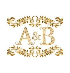 AB vintage initials logo symbol vector image