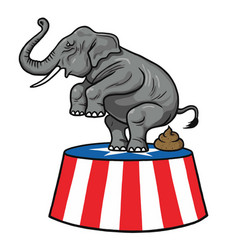 american republican party gop elephant vector image