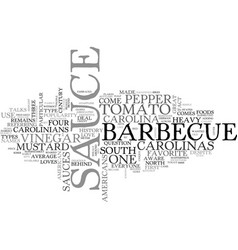 Bbq from the carolinas text word cloud concept vector