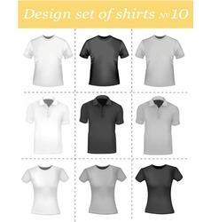 Black and white men polo shirt vector