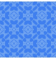 Blue Decorative Retro Seamless Pattern vector image