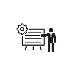 Business processes icon flat design vector
