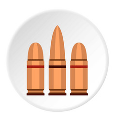 Cartridges icon circle vector