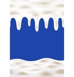Cream wave on blue background vector