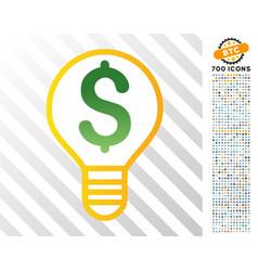 Electricity price flat icon with bonus vector