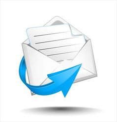 Email with arrow vector image vector image