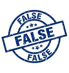 false blue round grunge stamp vector image
