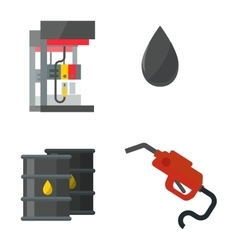 Gas oil station set vector image vector image