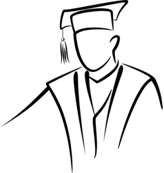 graduate concept vector image