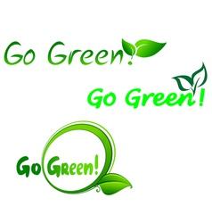 green symbols for ecology design vector image