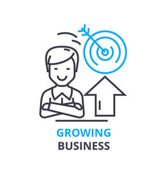 growing business concept outline icon linear vector image vector image
