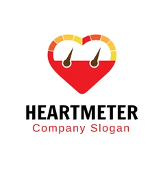Heart meter design vector