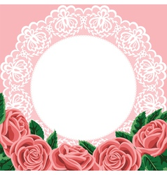 lace and roses vector image vector image