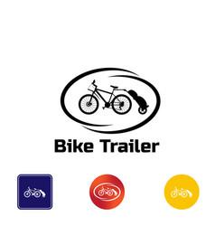 Logo bike trailer vector