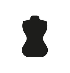 mannequin icon on white background vector image vector image