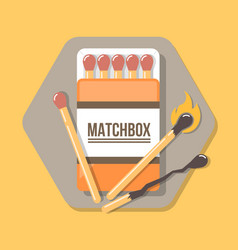 matchbox icon in flat style icon for web and vector image