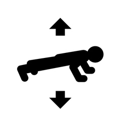 Push ups icon vector