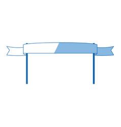 Ribbon banner pole symbol emblem empty vector