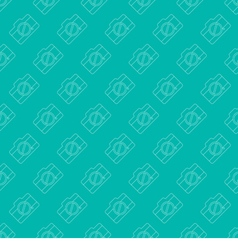 Seamless Simple And Clean Camera Pattern vector image vector image
