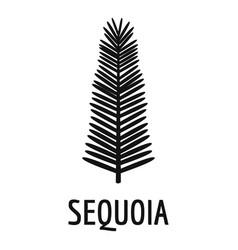 Sequoia leaf icon simple black style vector
