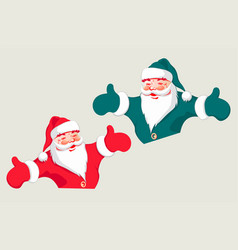 silhouette of santa claus with arms apart vector image vector image