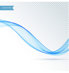 Smooth blue abstract wave background vector