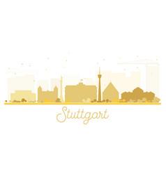 Stuttgart city skyline golden silhouette vector