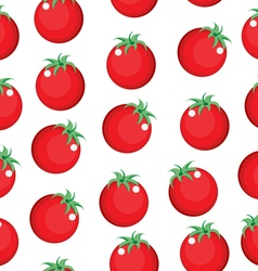 Tomato seamless pattern texture Tomato background vector image vector image