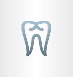 Tooth icon dental design vector