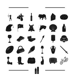 transport dessert and other web icon in black vector image vector image