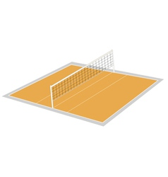 Volley ball ground vector