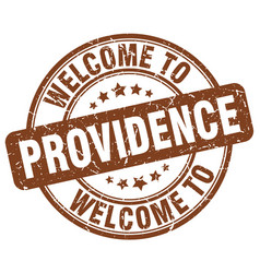 Welcome to providence brown round vintage stamp vector