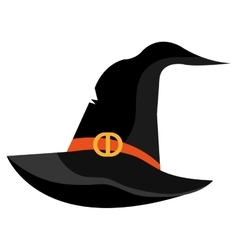 Witch hat cartoon isolated on white vector image