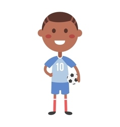 Young football boy vector image