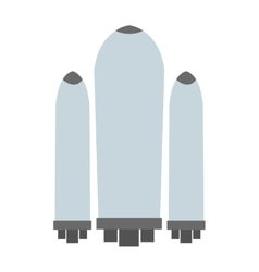 Space shuttle tanks icon vector