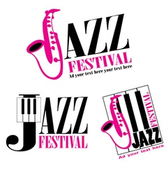 Logo of jazz festival vector