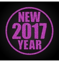 Pink sequins new 2017 year star circle vector