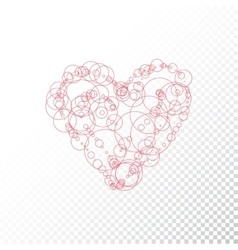 heart with circle vector image