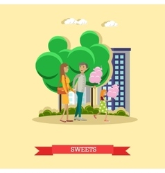 Happy family with cotton vector