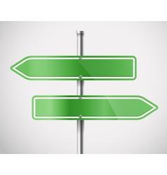 Blank green metal arrow boards vector
